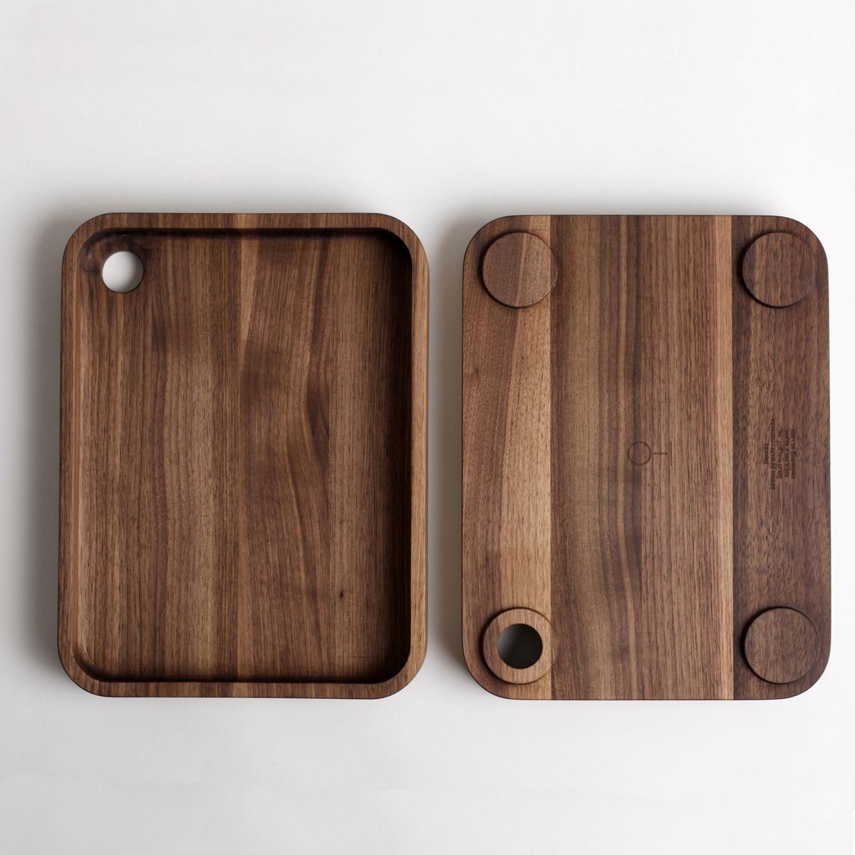 LUGI dřevěný Tác 01 30,5 x 23,4 cm, americký ořech