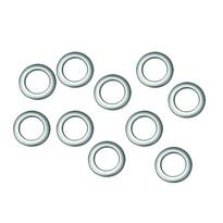 Inele de draperie, argintiu mat, set 10 buc., 2,8/4,6 cm