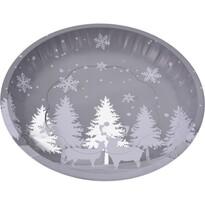 Koopman Plechový servírovací podnos Vianoce, 25,5 cm