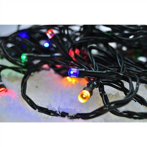 Solight Svetelná vonkajšia reťaz 100 LED s časovačom, 10 m, farebná