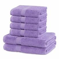 DecoKing Sada ručníků a osušek Marina světle fialová, 4 ks 50 x 100 cm, 2 ks 70 x 140 cm