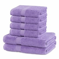 DecoKing Zestaw ręczników Marina jasnofioletowy, 4 szt. 50 x 100 cm, 2 szt. 70 x 140 cm