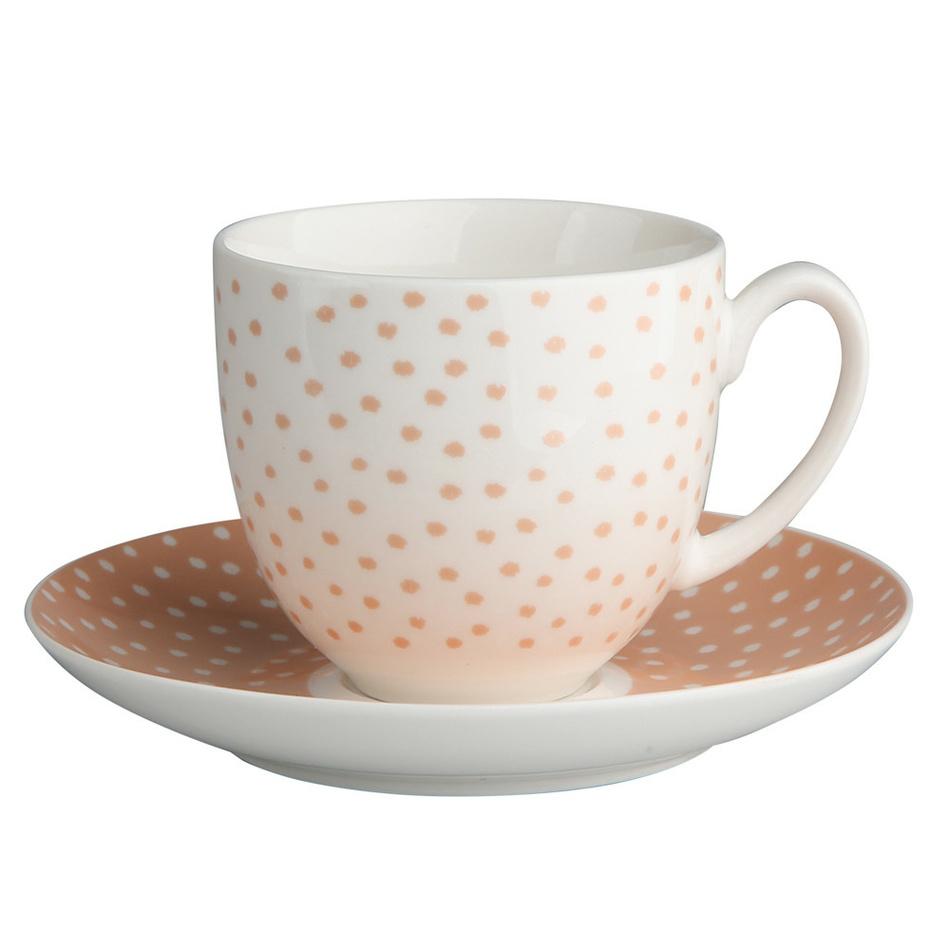 Altom Porcelánový šálek s podšálkem Punto, 200 ml