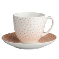 Altom Csésze és csészealj Punto, 200 ml, lazac pöttyök
