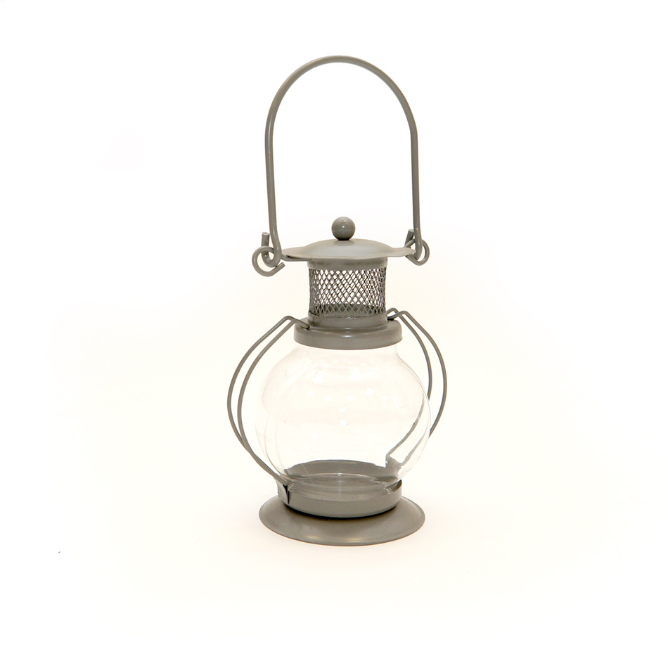 Mini lucerna guľatá, sivá
