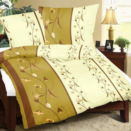 Bavlnené obliečky Ľalia, 140 x 220 cm, 70 x 90 cm