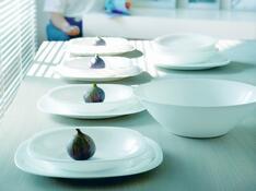 Luminarc Carine 18dílná talířová souprava bílá