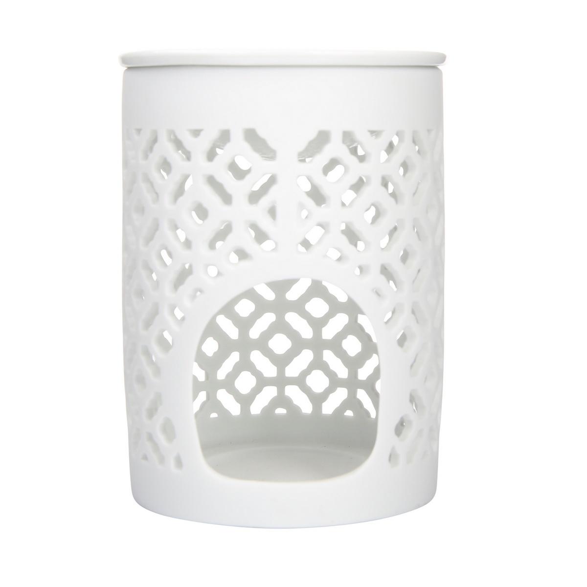 Altom Porcelánová aromalampa Beth 8,5 x 11,5 cm, bílá