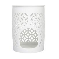 Altom Porcelánová aromalampa Beth 8,5 x 11,5 cm, biela