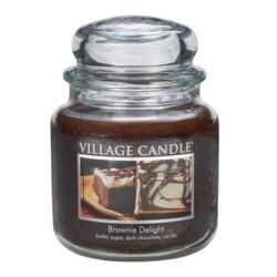 Village Candle Vonná svíčka Čokoládový dortík  - Brownies Delight, 397 g