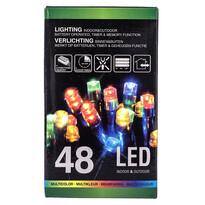Vianočná svetelná reťaz, farebná, 48 LED