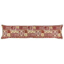 Dekoracyjny wałek uszczelniający na okno Gobelin czerwony, 90 x 20 cm