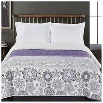 DecoKing Narzuta na łóżko Alhambra fioletowy, 220 x 240 cm