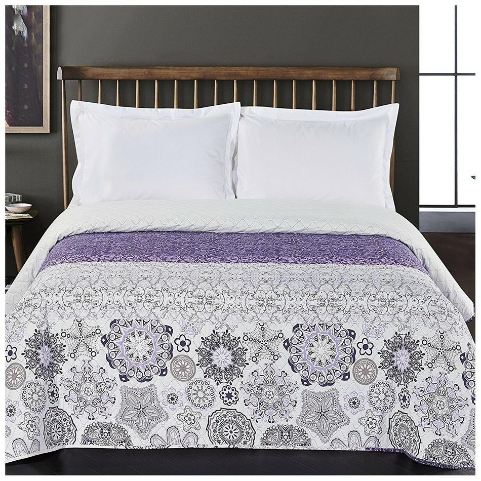 DecoKing Přehoz na postel Alhambra fialová, 220 x 240 cm