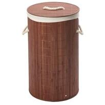 Coș pentru rufe rotund, din bambus