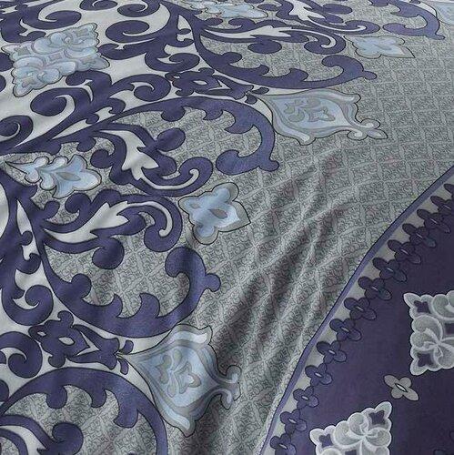Bavlněné povlečení Valeria modrá/šedá, 140 x 220 cm, 70 x 90 cm