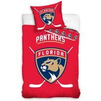 Lenjerie din bumbac luminoasă NHL Florida Panthers, 140 x 200 cm, 70 x 90 cm