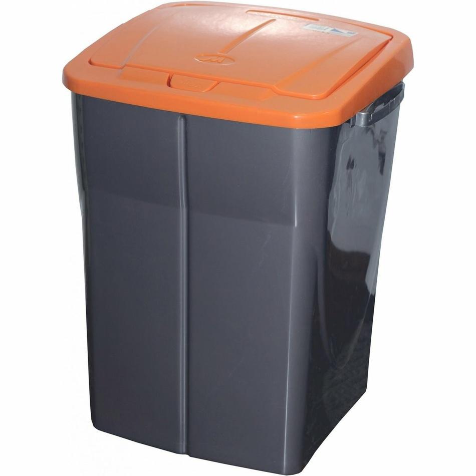 Koš na tříděný odpad oranžové víko; 51 x 36 x 36,5 cm; 45 l; plast