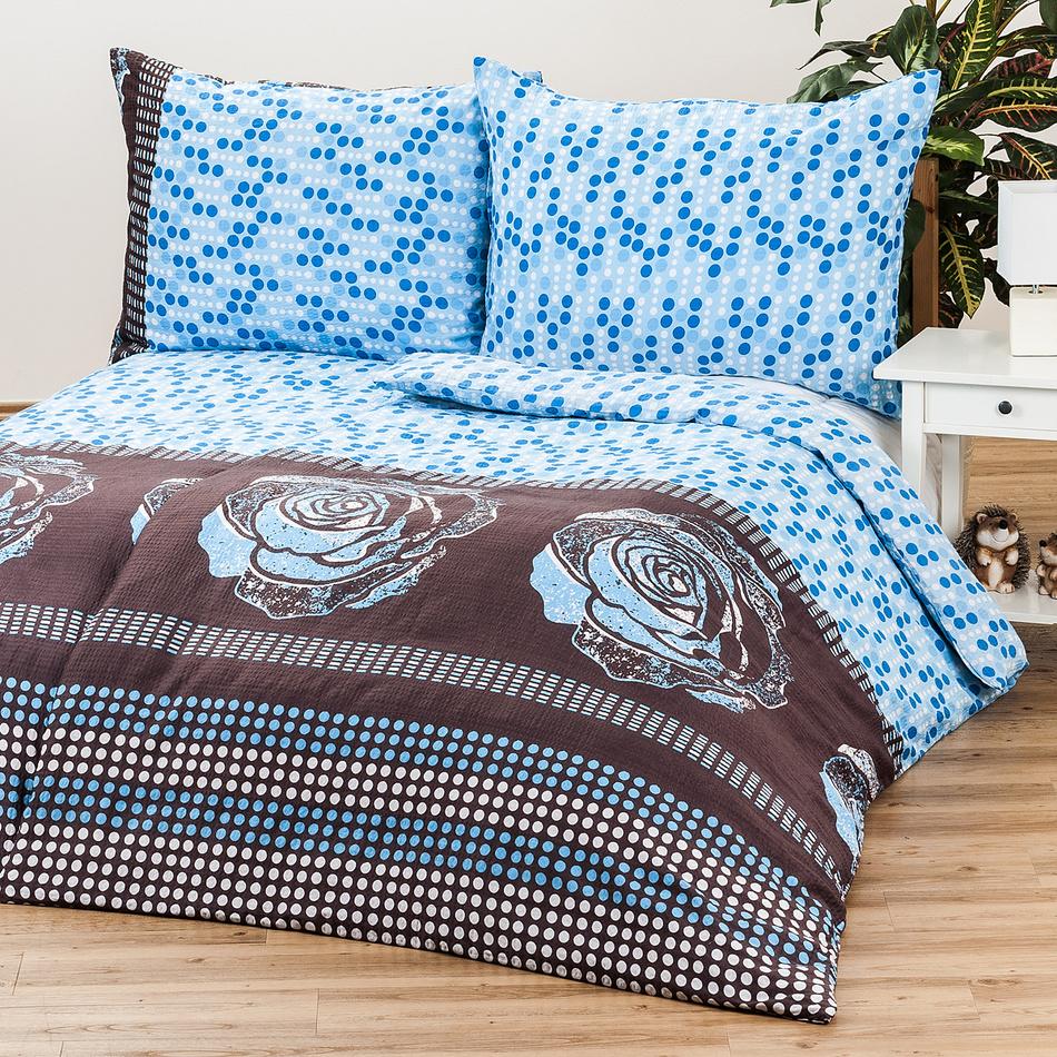 Jahu Saténové obliečky Mary Rose blue, 140 x 200 cm, 70 x 90 cm
