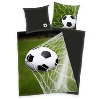 Futball gyermek pamut ágynemű, 140 x 200 cm, 70 x 90 cm