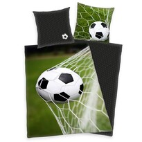 Lenjerie de pat, din bumbac, Fotbal, 140 x 200 cm, 70 x 90 cm