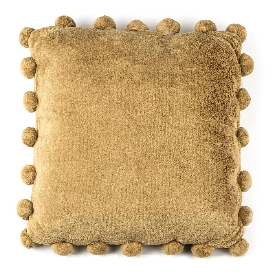 BO-MA Vankúšik Pompon béžová, 45 x 45 cm,