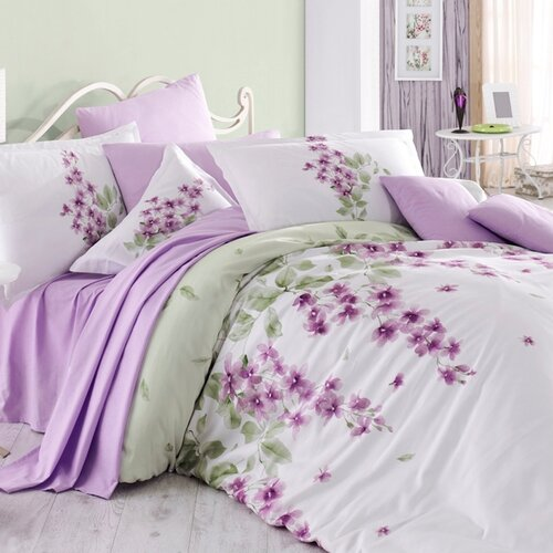 Bedtex povlečení bavlna Viola, 220 x 200 cm, 2 ks 70 x 90 cm
