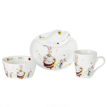 3dílná sada nádobí pro děti Zajíc