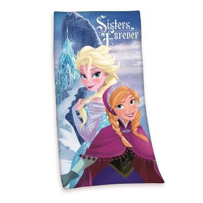 Osuška Ledové království Frozen Sisters Forever, 75 x150 cm