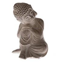 Betonová soška Buddhy, 12 x 16 cm, přírodní
