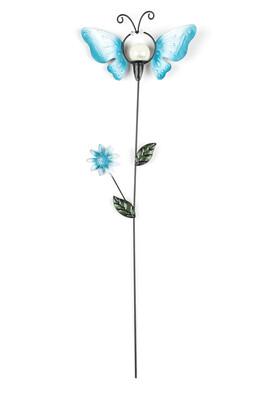 Zahradní dekorace motýl, modrá