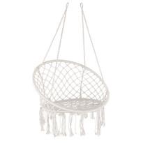 Domarex Wiszący fotel-huśtawka Luna biały, 60 x 80 x 120 cm