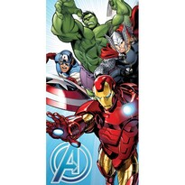 """Ręcznik Jerry Fabrics """"Avengers"""", jasnoniebieski,, 70 x 140cm"""