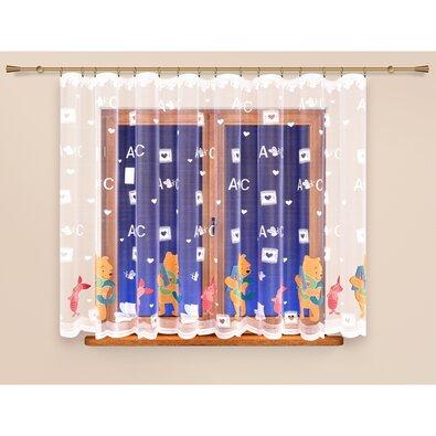 4home Záclona Medvedík Pú, 340 x 160 cm