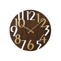 Nástenné hodiny Lavvu Style Brown Wood, pr. 40 cm
