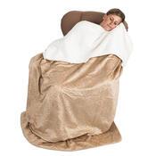 4Home beránková deka Luxury béžová, 150 x 200 cm