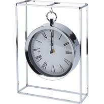 Zegar stołowy Erada srebrny, 18,8 x 5,8 x 25 cm