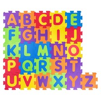 Plastica Penové puzzle Abeceda, 52 dielov