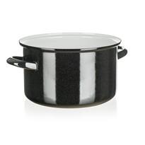 Belis Smaltovaný hrniec Standard 24 cm, čierna