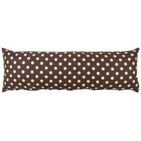 4Home Poszewka na poduszkę relaksacyjna Mąż zastępczyKropka czekolada, 45 x 120 cm