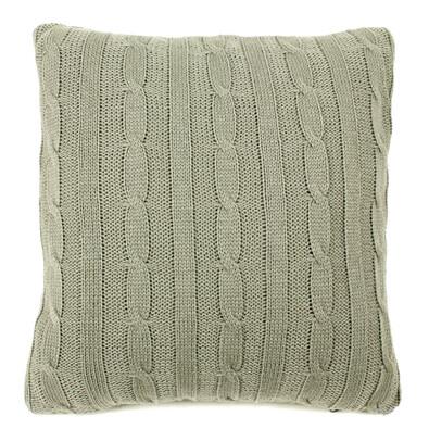 Povlak na polštářek pletený Duo šedá, 45 x 45 cm