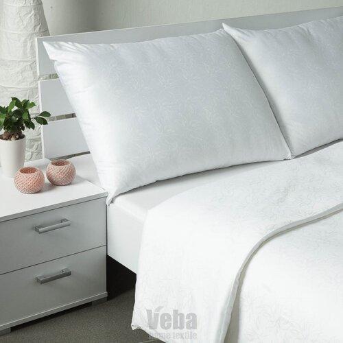 Veba Geon Tulipánok damaszt ágynemű, fehér, 140 x 200 cm, 70 x 90 cm