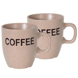 Sada kameninových hrnků Cofee 150 ml, 2 ks, béžová