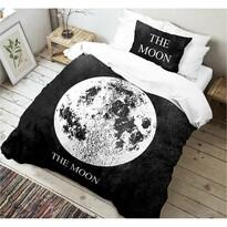Lenjerie bumbac Kvalitex Moon 3D, 140 x 200 cm, 70 x 90 cm