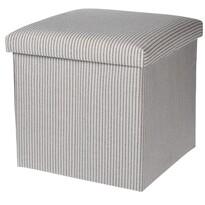 Úložný sedací box Faro šedo - bílá, 38 x 38 cm