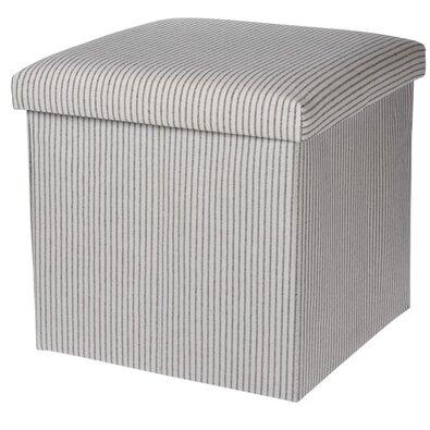 Úložný sedací box Faro sivo-biela, 38 x 38 cm