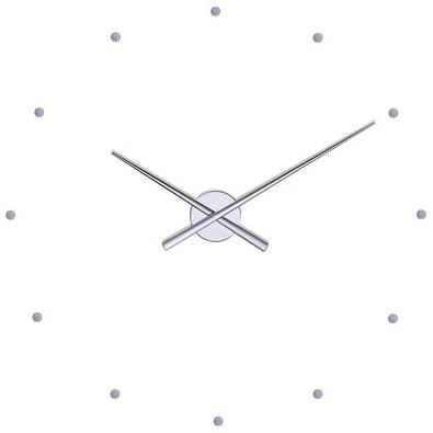 Nomon OJ nástěnné hodiny, stříbrná, pr. 50 cm