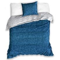 Bavlněné povlečení Snake tmavě modrá, 140 x 200 cm, 70 x 90 cm