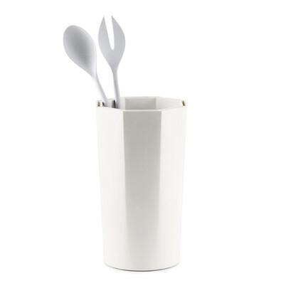 Stojánek na nože a kuchyňské náčiní, bílý
