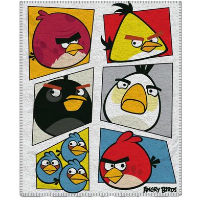 Dětská deka Angry Birds 069, 120 x 150 cm